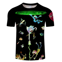 2018 Newest Rick and Morty t shirt Men rick morty Family print T Shirts Novelty funny