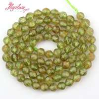 4mm Faceted Round Green Peridot Natural Beads Gem Stone For DIY Necklace Bracelet Jewelry Making 15