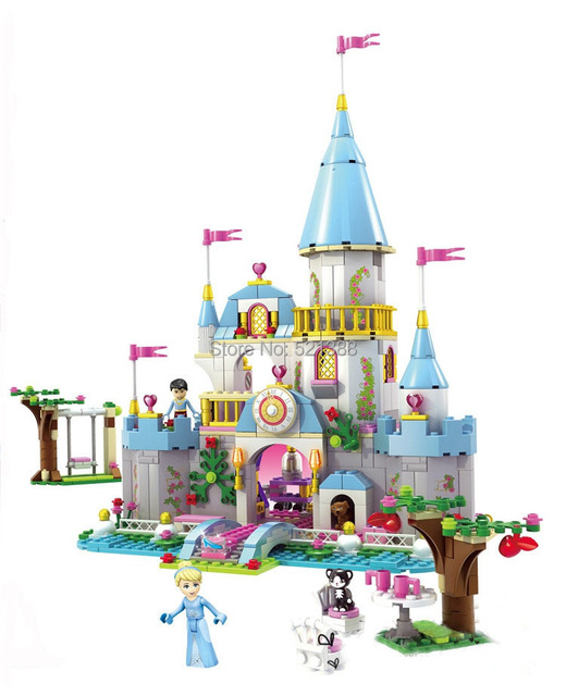 Игрушки для детей девушки золушка Романтический КИТАЙ БРЕНД CHI3788 самоконтрящимися кирпича Совместимость с Lego disney princess L41055