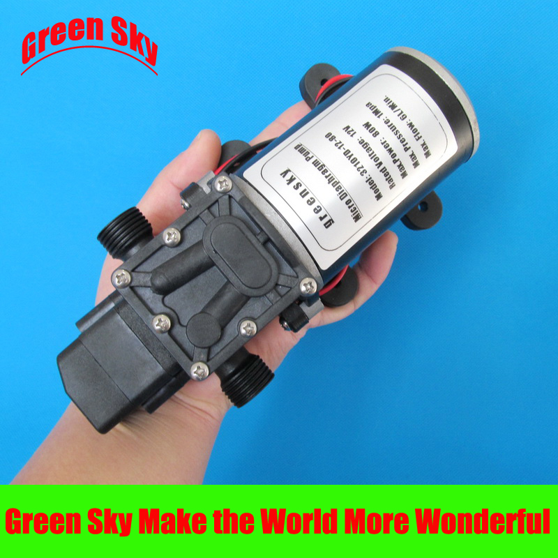 6L/Min 12V DC 80W automatic pressure switch type automatic water pressure booster pump