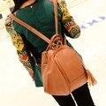 Clásico de la moda de Nuevo Bolsos Del Bolso de Hombro Femenino Bolsos Crossbody De Las Mujeres Femme Marca De Lujo Borla de La Vendimia de Tres Funciones