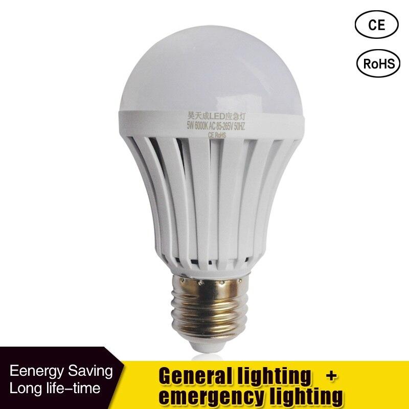 Led Emergency Light LED Bulb E27 5w 7W 9W  85-265v Rechargeable Battery Lighting Lamp For Outdoor Lighting Bombillas