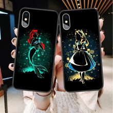 Cute cartoon Disneys di Mickey Minnie Paperino Caso Del Punto Per il iphone XS MAX XR Cover Per iPhone X 6 6S Plus 5 SE 7 8 Più Coque(China)