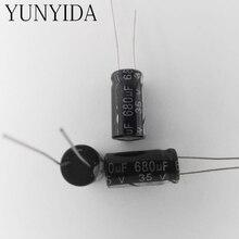ฟรีshiping 20ชิ้น680ยูเอฟ35โวลต์อลูมิเนียมe lectrolytic c apacitor