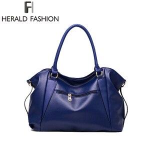 Image 3 - ヘラルドファッションデザイナーの女性のハンドバッグ女性のpuレザーバッグハンドバッグレディースポータブルショルダーバッグオフィス女性ホーボーバッグトートバッグ