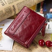 뜨거운 판매 2020 동전 가방 지퍼 지갑 여성 정품 가죽 지갑 지갑 패션 짧은 지갑 신용 카드 홀더 Hasp 디자인