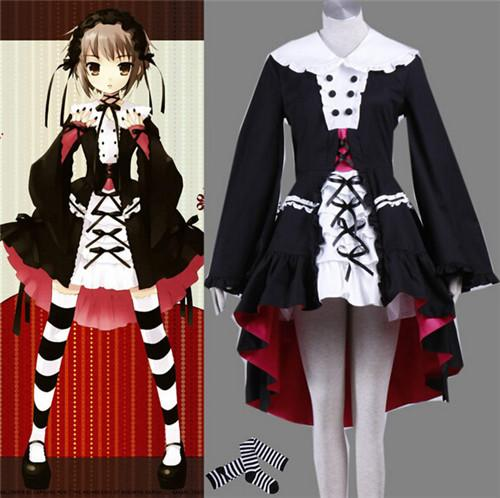 2016 Japanese font b Anime b font Costumes Yuki Nagato LOLITA font b Cosplay b font