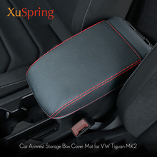 Per VW Tiguan mk2 2016 2017 2018 2019 Bracciolo della Console Pad Copertura Cuscino di Sostegno Box Bracciolo Top Zerbino Auto Rivestimento styling