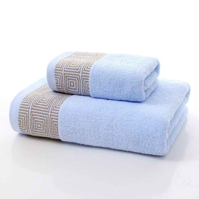 Towels with 74x34cm and 140x70cm 100% Cotton Bath Towel Face Towel for babychildrenadult beach Spa toweltowels with 3 color (9)