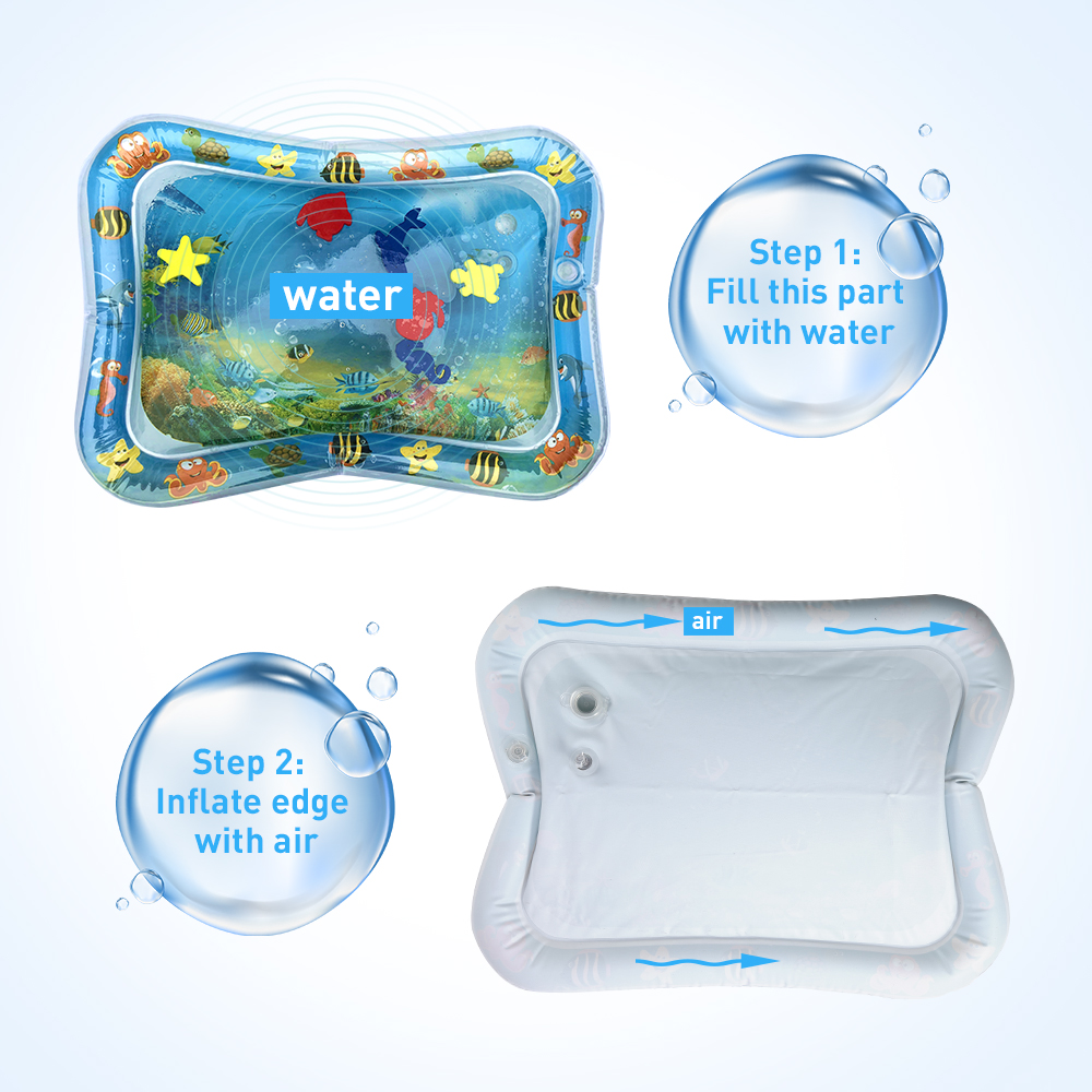 Baby Kids Water Play Mat Toys Inflatable thicken PVC infant Tummy Time Playmat Toddler Activity Play Baby Kids Water Play Mat Toys Inflatable thicken PVC infant Tummy Time Playmat Toddler Activity Play Center water mat for babies