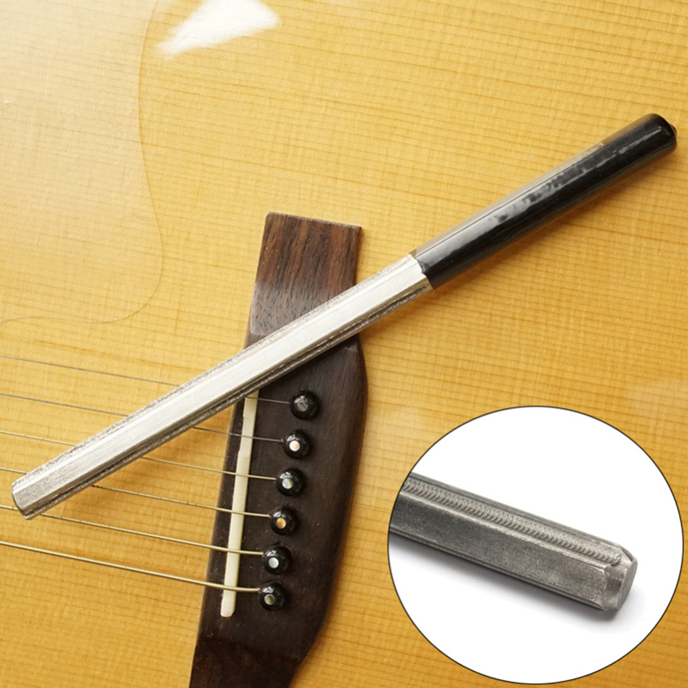 Guitar Fret Crowning File Dressing Guitarra File with 3 Size Edges Professional Luthier Tool Strings Instrument Part Accessories