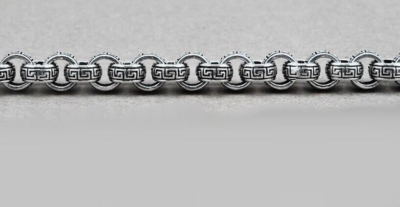 Čisti srebrni tajlandski srebrni nakit 925, zlatni zmaj, vintage - Modni nakit - Foto 5