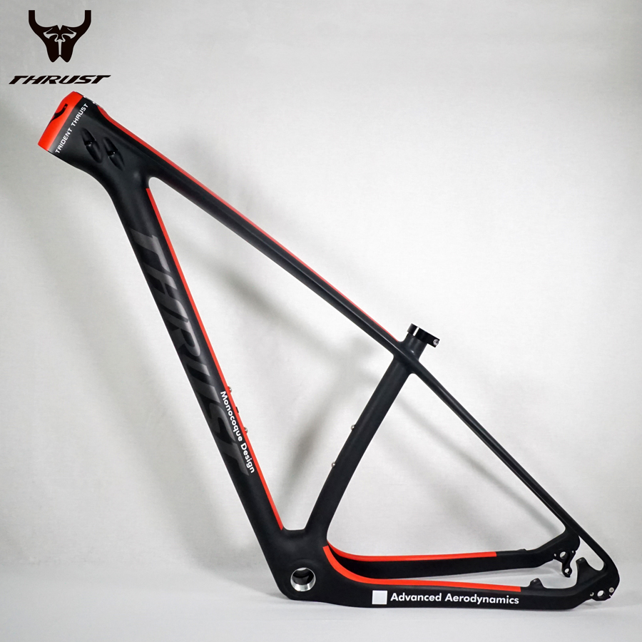 THRUST Carbon Frame Mountain Bike Frame 29er 27.5er Red Chinese Carbon MTB Bicycle Frame 29er 15 17 19inch with Headset Clamp mtb mountain bike bicycle frame 26 x 17 inch al6069 for bike headset 44 55mm glossy
