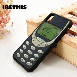 Iretmis 5 5S SE 6 6S TPU Souple étui En Silicone pour iPhone 7 8 plus X Xs 11 Pro Max XR Ancien Mobile BLAGUE Rétro Drôle
