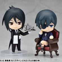 Kuroshitsuji Japanese anime changing face toys Ciel Phantomhive Charles young master and black butler figure sebastian 2pcs/lot(China)