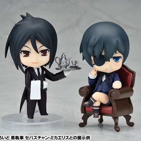 Black Butler Ciel Phantomhive Charles young master and sebastian Anime Action Figure 2pcs/lot