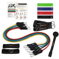 Procircle Resistance Bands set 16 Pcs Expander Tubes Rubber Band For Resistance Training, Physical Therapy, Home Gyms Workout