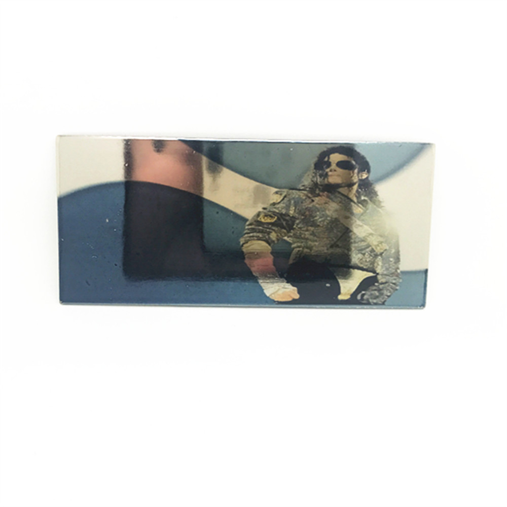 The Glossy Printing White K Zinc Alloy Belt Buckle Michael Jackson Memorial