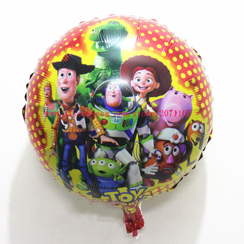 Lucky 50pcs/lot 45*45cm Round Cartoon Balloon Toy Story Party Supplies Globos Classic Toys Inflatable Ballon Toy Story Balloons