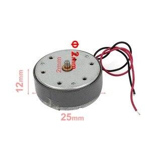 Диаметр вала 2 мм 300 об/мин DC 4 в цилиндр Электрический мини двигатель постоянного тока w провод для VDC DVD CD плеер 25 мм x 12 мм (D * H) Скидка 50