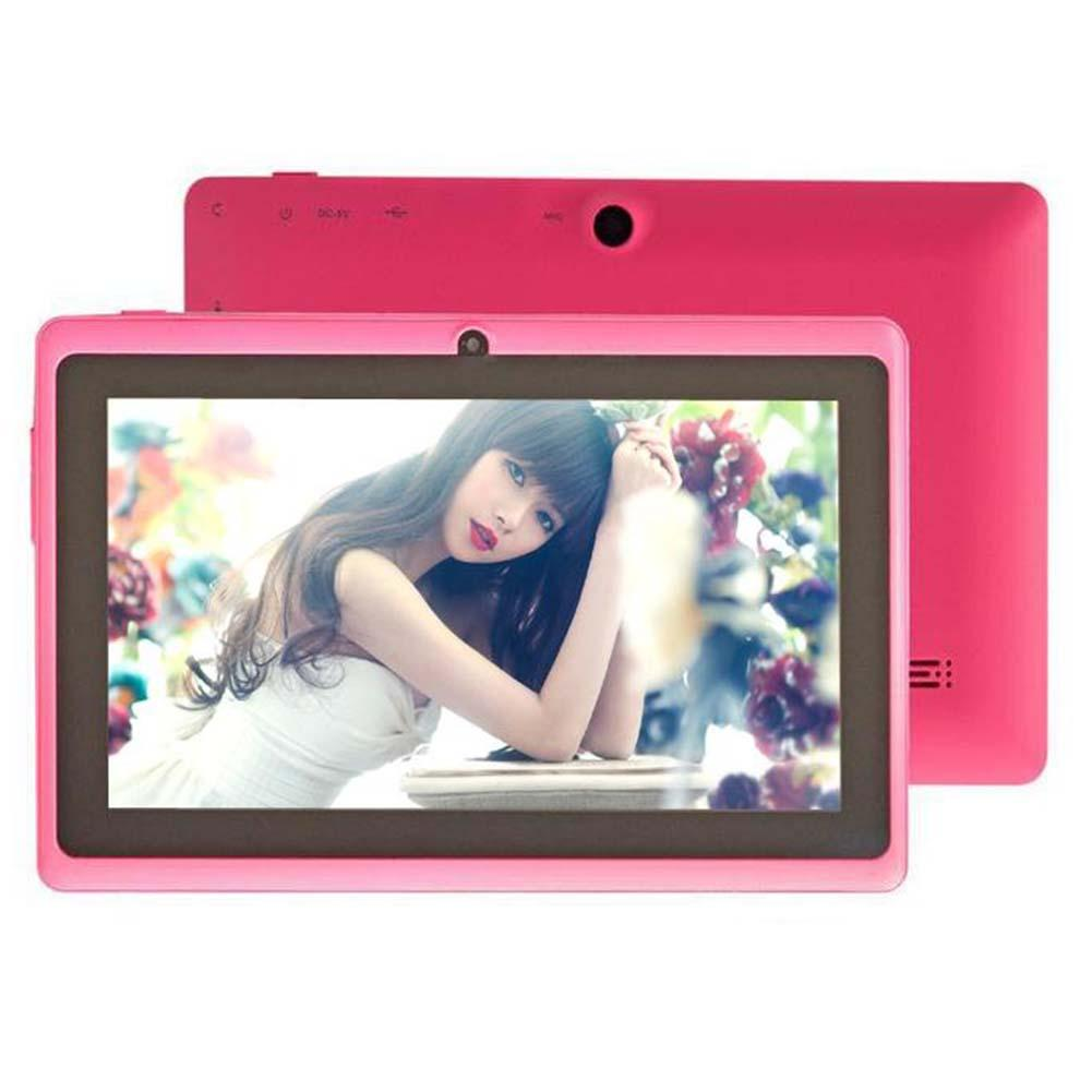 7 Android 4.4 8GB Dual Cameras Quad Core WiFi Kids Tablet PC For Gifts Pink