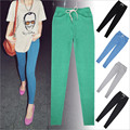 S-XL 4 Colors Women's Fashion Lace Pants All Match Loose Candy Color Pocket Long Cotton Slim Workout Pants Women