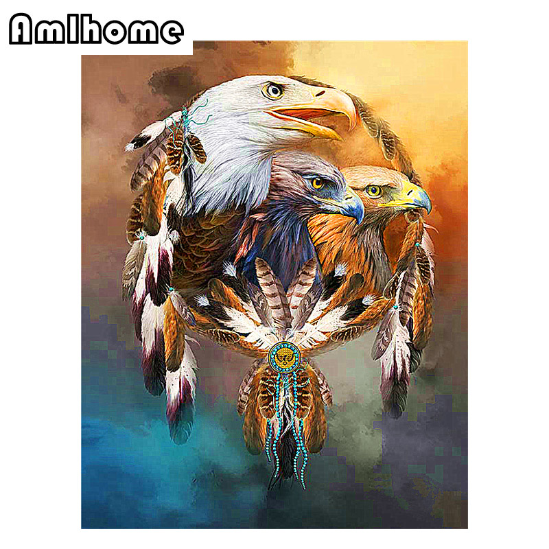 Popular eagle cross stitch buy cheap eagle cross stitch for Eagle decorations home