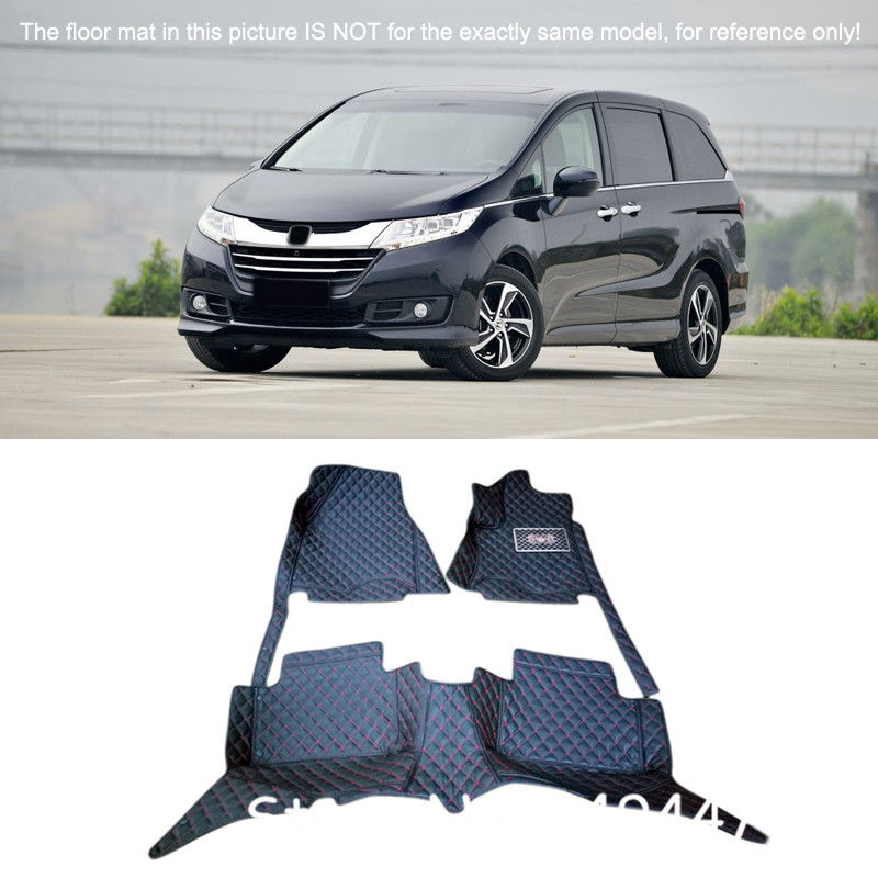 Interior Custom Waterproof Car Styling Auto Front & Rear Car Floor Mats & Carpets For Honda Odyssey 2015 2016 17 2018 3d trunk mat for peugeot 508 waterproof car protector carpet auto floor mats keep clean interior accessories