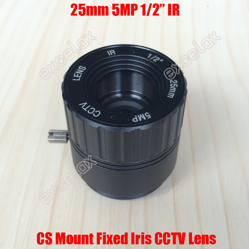 5MP 1/2 25mm CS Mount Interface CCTV Camera Lens Fixed Iris IR Multi-layer Coating for 1080P 2MP 3MP 4MP 5MP Box Body Camera газовые плиты