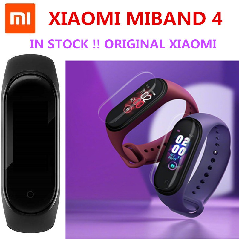 Original Xiaomi MiBand 4 Smart Bluetooth 5 0 Wristband Fitness Bracelet AMOLED Color Touch Screen in