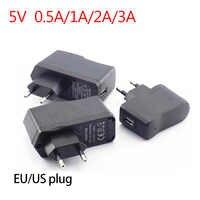USB Port DC 5 V 0.5A/1A/2A/3A 1000ma AC zu DC Power stecker Adapter liefern ladegerät micro Lade Für LED Streifen Lichter telefon UNS EU