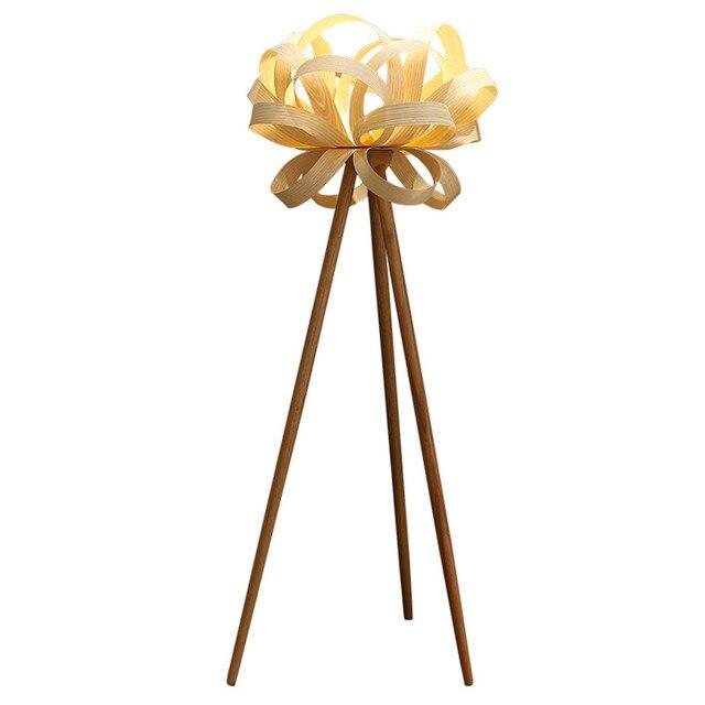 일본식 단단한 나무 e27 led 플로어 램프 침실 거실 연구 데코 램프 플로어 조명 홈 조명기구 lampadaire