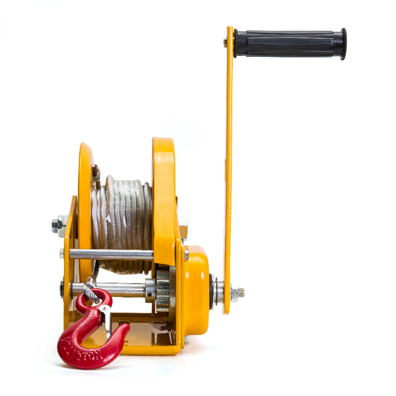 1800LBS Self Locking Manual Winch With 8m Wire Rope And Hook Hand Tool Lifting Sling Machine Hand Hoist in Machine Centre from Tools