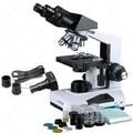 Блочный бинокулярный микроскоп-AmScope  блочный бинокулярный микроскоп 40X-2000X + камера 1 3 МП