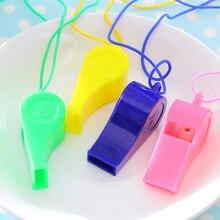 Пластик whistles подарок игрушки для детей сын перейдите к свисток рефери свисток болельщики висит веревка игры свисток