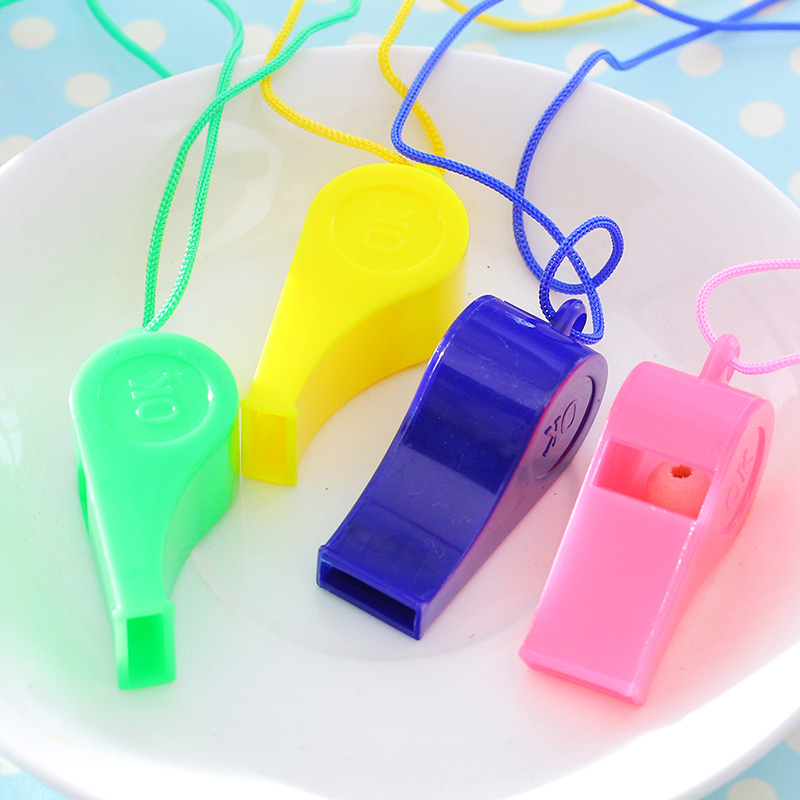 Plastic Whistles Gift Toys For Children Son Go To Whistle The Referee Whistle Fans Hanging Rope Games To Whistle
