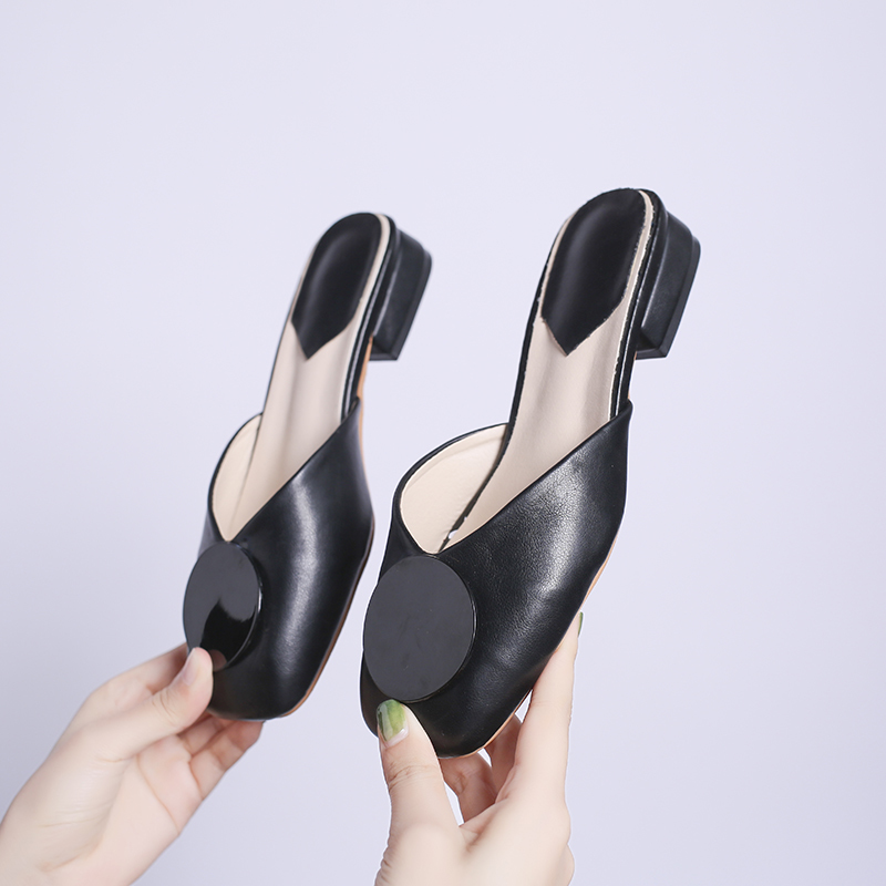 Cute Mules Women Soft Flats Shoes Ladies Low Heels Slippers Women Summer Autumn Women Shoes 2019 Fashion Slip On Shoes Plus Size in Slippers from Shoes