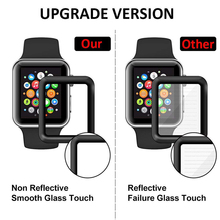 3D Curved Edge HD Tempered Glass for Apple Watch Series 3 2 1 38MM 42MM Screen Protector film for iWatch 4 40MM 44MM Full glue