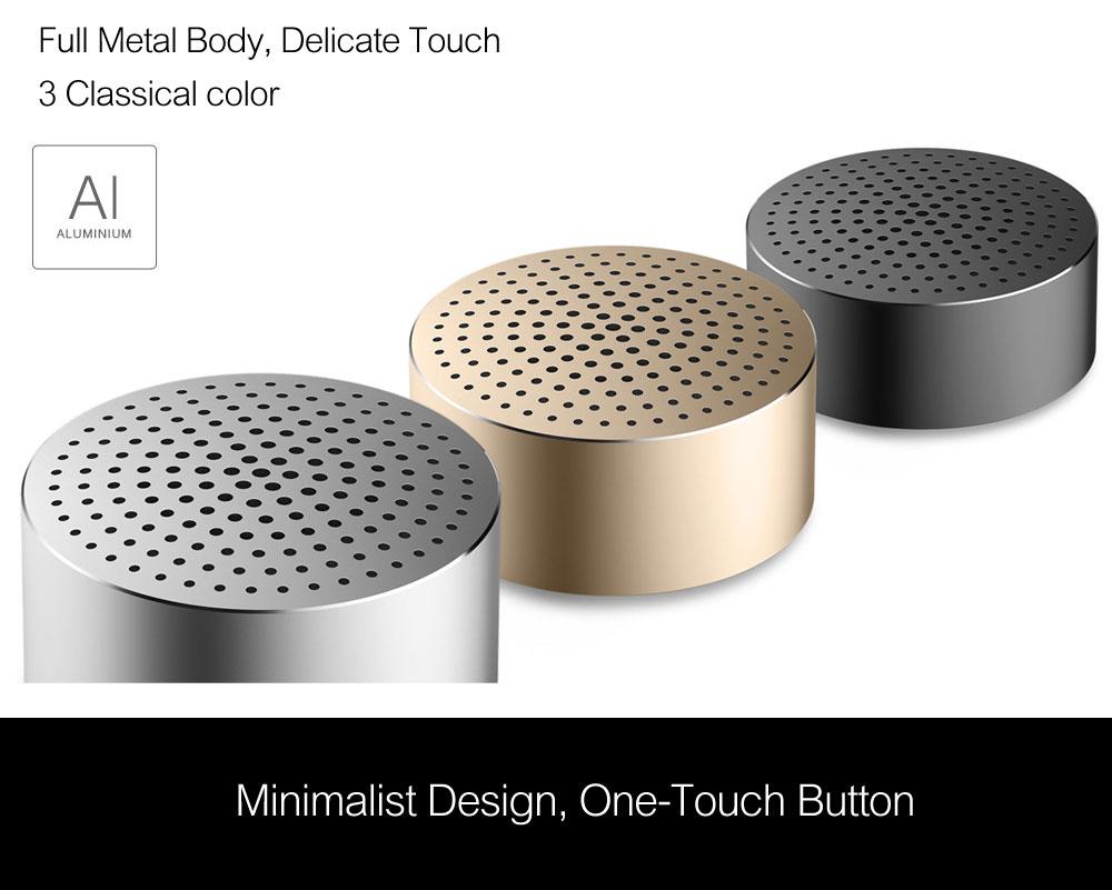 Xiaomi Mi Portable Bluetooth Speaker Built-in Mic 480mAh Battery Aluminium Alloy Body Bluetooth 4.0 Wireless Mini Mp3 Player (3)