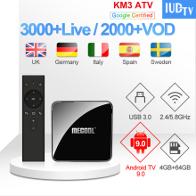 IPTV Italian UK Spanish KM3 ATV Box 1 year IUDTV Code Greek Swedish Subscription Europe India IP TV Spain Italy EX-YU