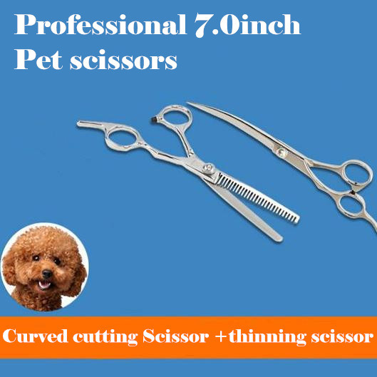 Profesional 7 pulgadas Animal perro mascota tijeras peluquería corte - Cuidado del cabello y estilo