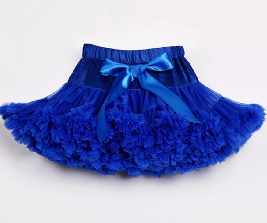 Детские Нижние юбки для девочек юбка-пачка Нижняя юбка для девочек девочки пачки, миниатюрные юбки шифоновая юбка воздушная юбка подростковая одежда для девочек - Цвет: Синий