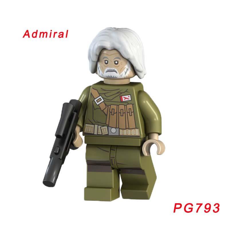 Caluan Ematt Figure Star Wars: The Force Awakens 75202 Defense Of Crait Building Block Super Heroes Doll Gift For Children Pg793