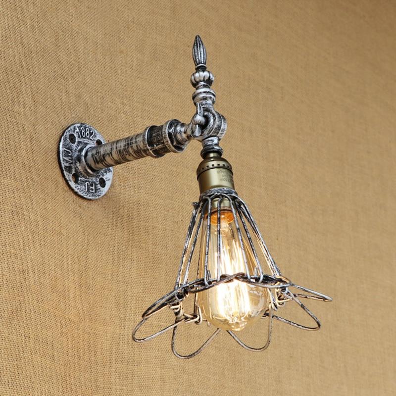 Loft Vintage Wall Light American Industrial Wall Sconce Edison Bulb Wall Lamp Retro Metal for living room bedroom restaurant bar стоимость