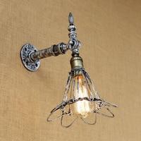 Loft Vintage Wall Light American Industrial Wall Sconce Edison Bulb Wall Lamp Retro Metal for living room bedroom restaurant bar