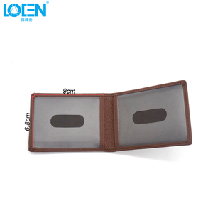 Image 4 - LOEN 1PC Leather Auto Driver License Bag Car Driving Documents Card Credit Holder Purse Wallet Case For bmw style