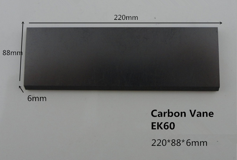 220*88*6mm EK60 carbon graphite vane for Becker Vacuum Pumps DTLF 500 / VTLF 400 / VTLF 500 ,graphite plate vanes цена