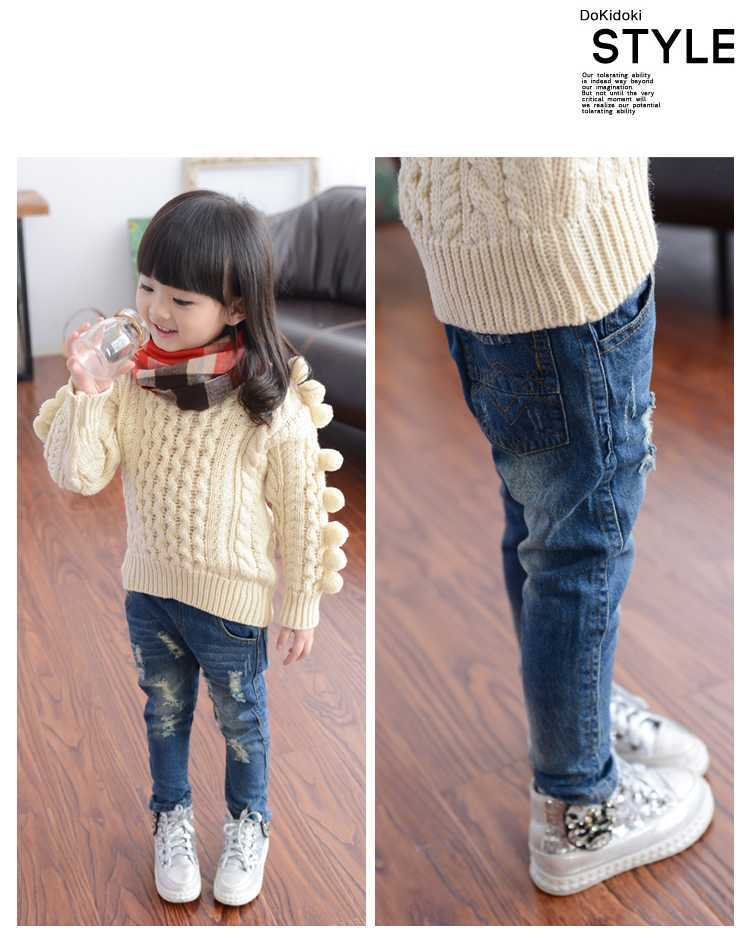 4 8Y Children Jeans Girls Denim trousers Baby Girl Jeans Top Quality Casual pants kids clothing ...