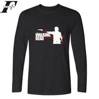 Harajuku Camiseta Masculina men Clothing T shirt Walking Dead Zombies tee shirt Fitness T shirt men Long Sleeve men clothing