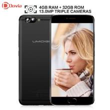 UMIDIGI Z Pro Android 6.0 5.5 inch Helio X27 Deca Core 4GB RAM 32GB ROM 13.0MP Dual Rear Cameras 3780mAh Mobile Phone
